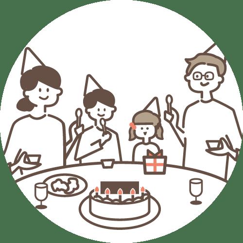 誕生日のお子さん、お孫さんや親族へ